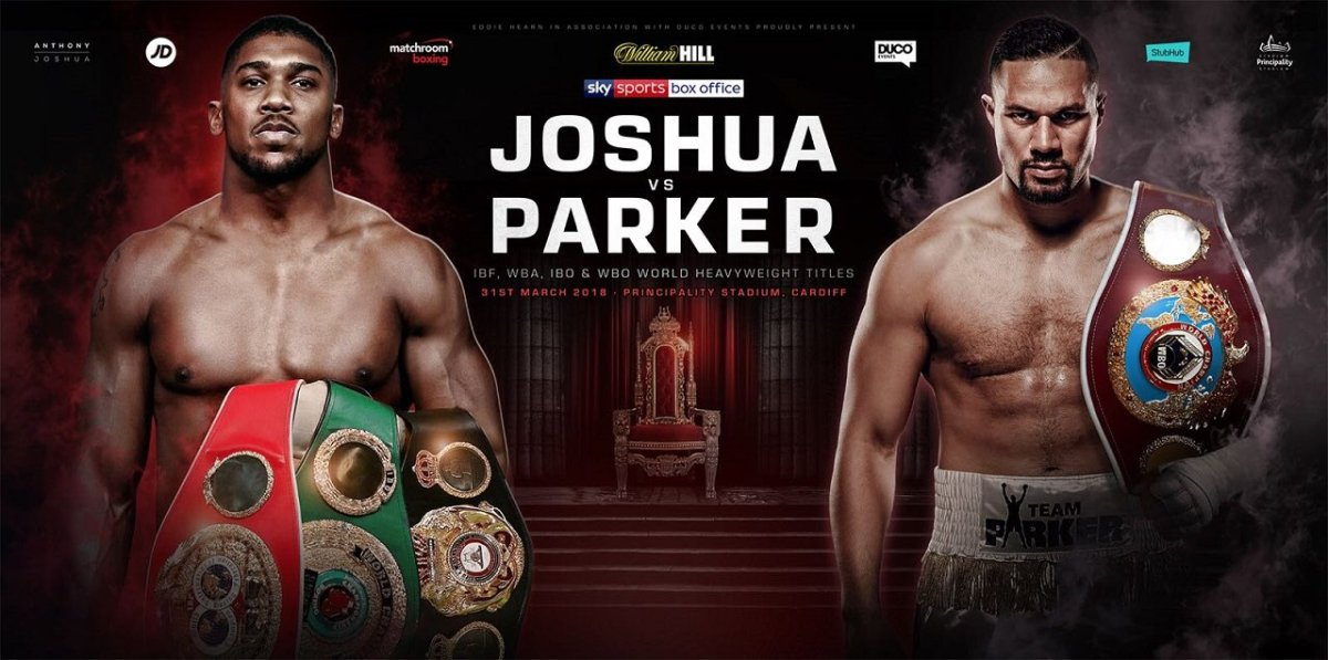 Joshua and Parker clash on March 31