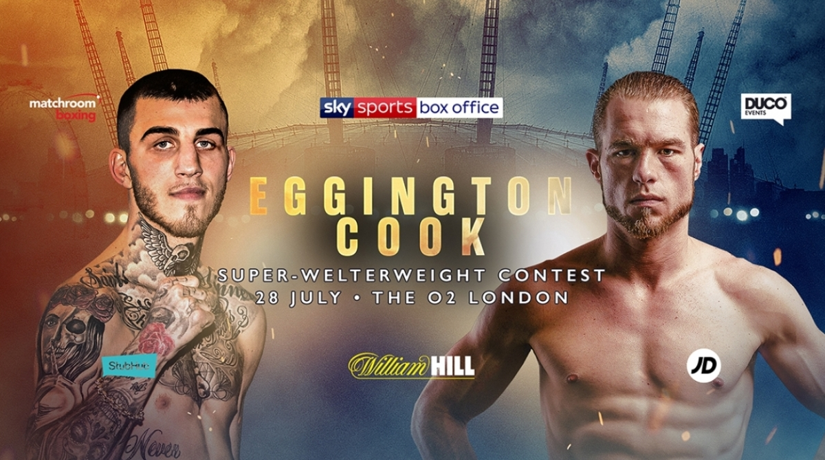 EGGINGTON STEPS IN TO FACE COOK AT THE O2